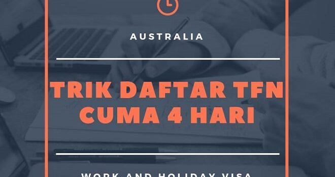 cara daftar tfn australia